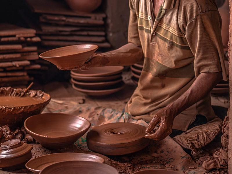 La poterie de la ville safi